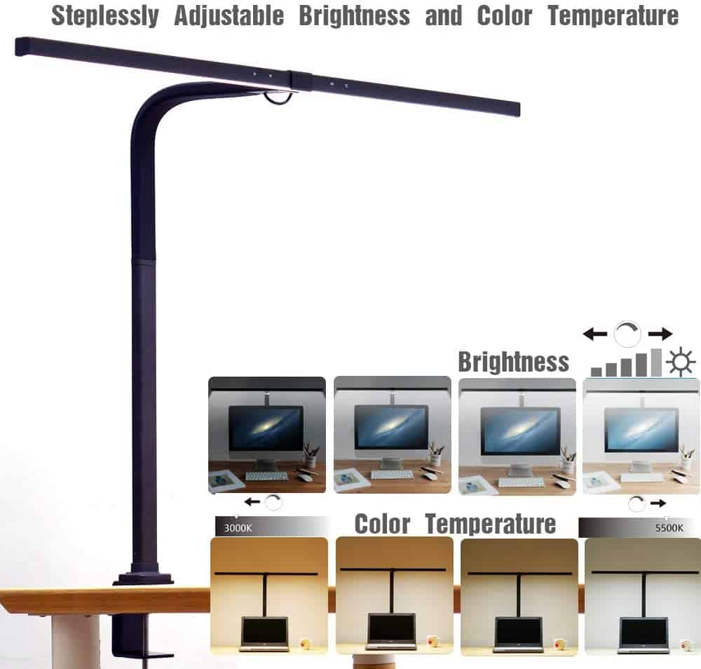 EYOCEAN LED Desk Lamp with Clamp